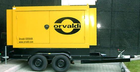 ORVALDI Genset - on wheels in silent canopy